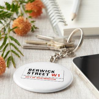 Berwick Street, London Street Sign Key Ring