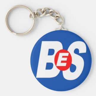 BES Branded Items Basic Round Button Key Ring