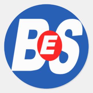 BES Branded Items Round Sticker