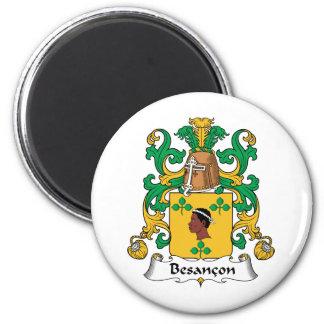 Besancon Family Crest 6 Cm Round Magnet