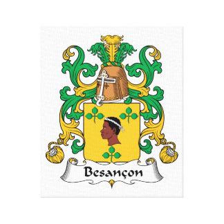 Besancon Family Crest Stretched Canvas Prints