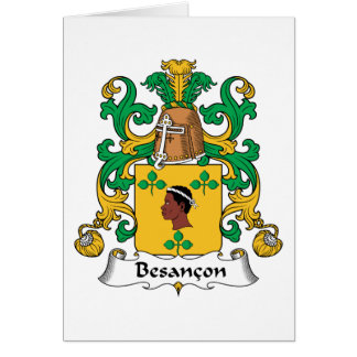 Besancon Family Crest Greeting Card