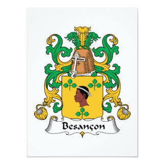 Besancon Family Crest Invites