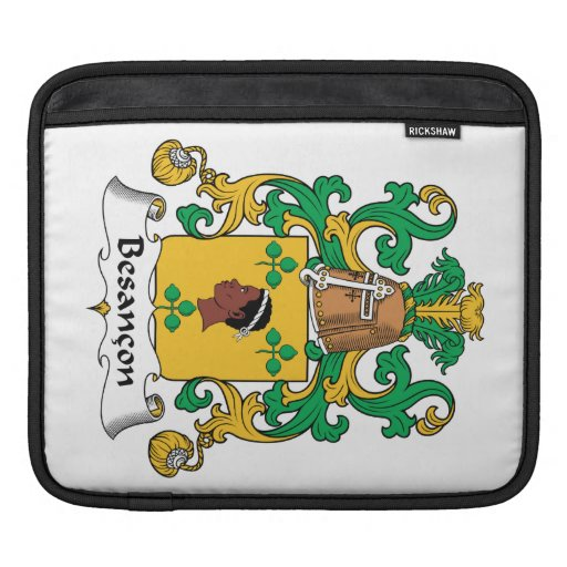 Besancon Family Crest iPad Sleeves
