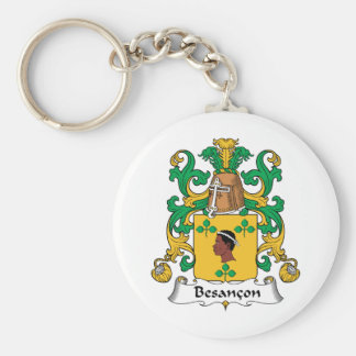 Besancon Family Crest Basic Round Button Key Ring
