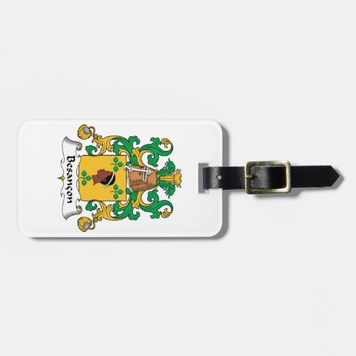 Besancon Family Crest Travel Bag Tag