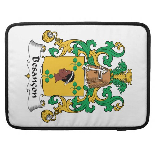Besancon Family Crest Sleeves For MacBooks