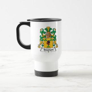 Besancon Family Crest Stainless Steel Travel Mug