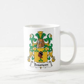 Besancon Family Crest Classic White Coffee Mug