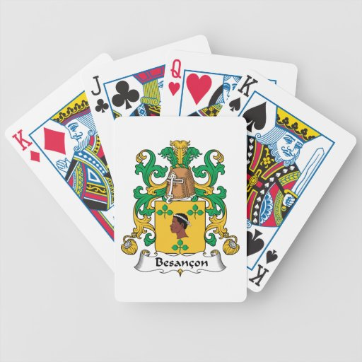Besancon Family Crest Bicycle Card Decks