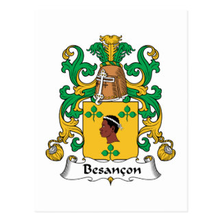Besancon Family Crest Post Cards