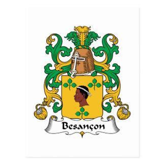Besancon Family Crest Postcard