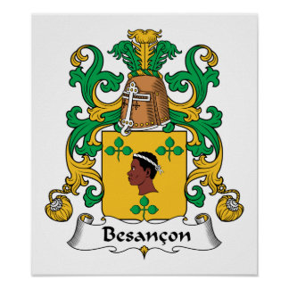 Besancon Family Crest Print