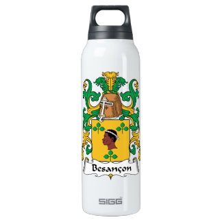 Besancon Family Crest 16 Oz Insulated SIGG Thermos Water Bottle