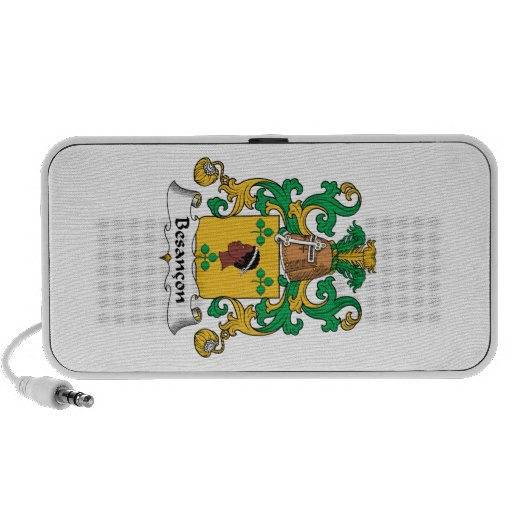 Besancon Family Crest Travelling Speakers