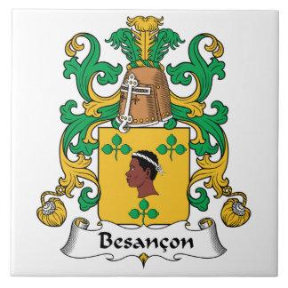 Besancon Family Crest Ceramic Tile