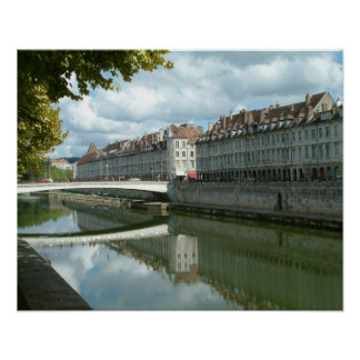 Besançon waterfront poster