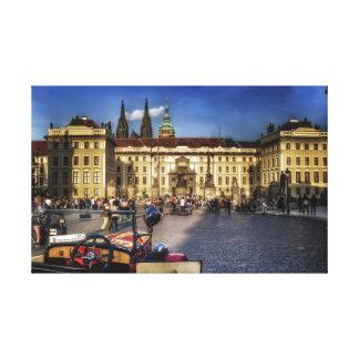 Beside a car at Prague Castle Canvas Print