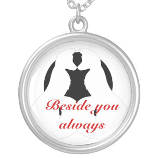 Beside you always round pendant necklace