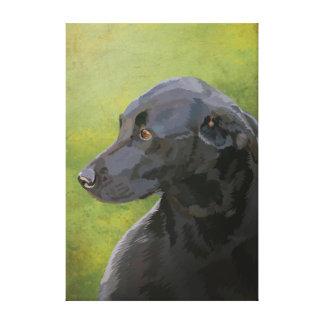 Bess - black labrador canvas print