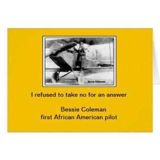 Bessie Coleman quote card