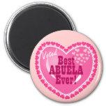 Best ABUELA Ever Fridge Magnets
