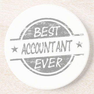 Best Accountant Ever Gray Coaster
