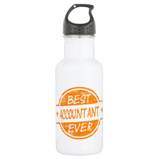 Best Accountant Ever Orange 532 Ml Water Bottle