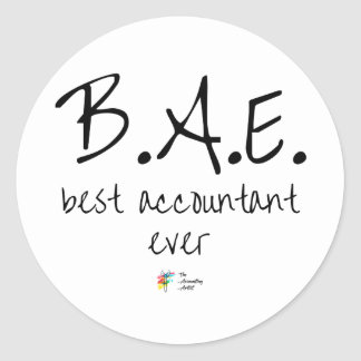 Best Accountant Ever Sticker BAE