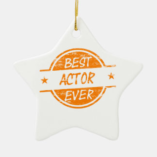 Best Actor Ever Orange.png Christmas Ornament