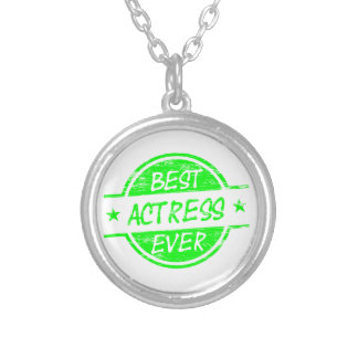 Best Actress Ever Green png Personalized Necklace