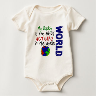 Best Actuary In World (Daddy) Baby Bodysuit