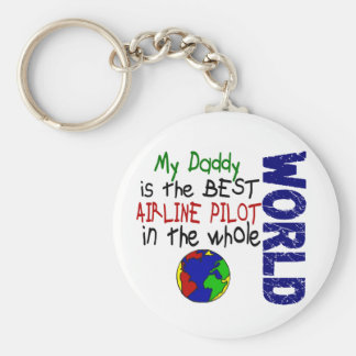 Best Airline Pilot In World 2 (Daddy) Key Ring
