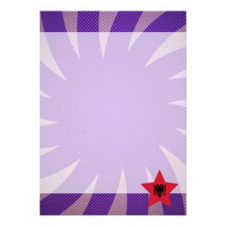 Best Albania Flag Design 13 Cm X 18 Cm Invitation Card