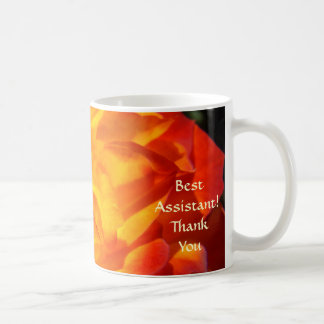 Best Assistant! Coffe Cup Office Thank You! Roses Basic White Mug
