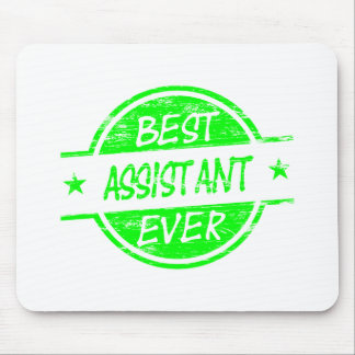 Best Assistant Ever Green Mouse Mat