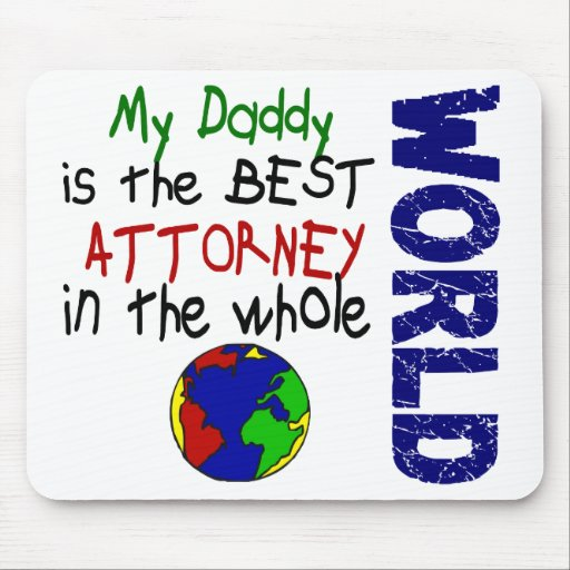 Best Attorney In World 2 (Daddy) Mouse Mat