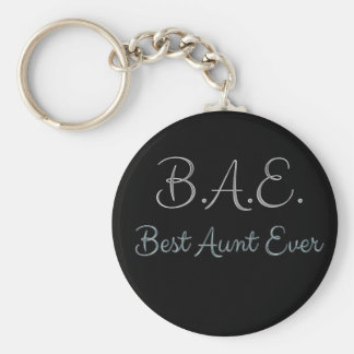 Best Aunt Ever BAE Key Ring