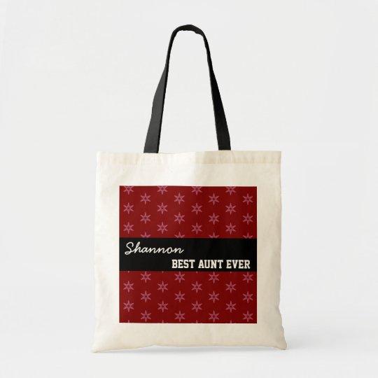 Best Aunt Ever Custom Name Geo Pattern Template Tote Bag