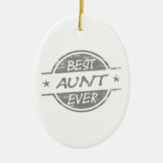 Best Aunt Ever Gray Christmas Ornament
