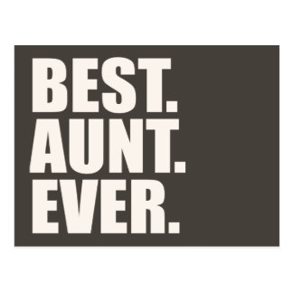 Best. Aunt. Ever. Postcard