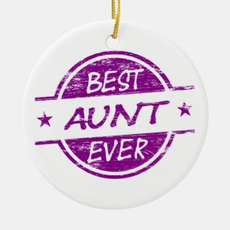Best Aunt Ever Purple Christmas Ornament