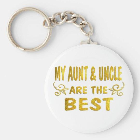 Best Aunt & Uncle Key Ring