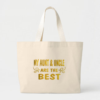 Best Aunt & Uncle Large Tote Bag