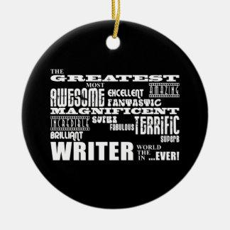Best Authors and Writers : Greatest Writer Round Ceramic Decoration