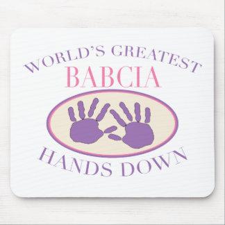 Best Babcia Hands Down T-shirt Mouse Mat