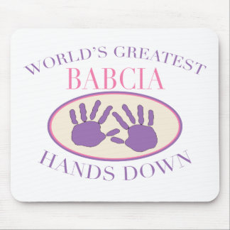 Best Babcia Hands Down T-shirt Mouse Pad