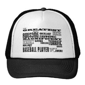 Best Baseball Players Greatest Baseball Player Mesh Hat