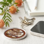 Best Baseball Senior Night Gift Ideas PERSONALIZED Silver-Colored Round Key Ring