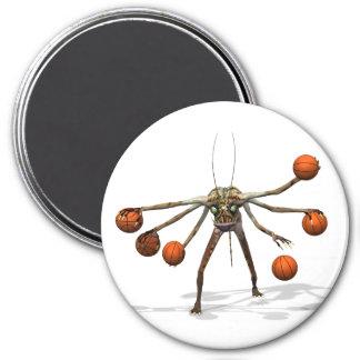 Best Basketball Dribbler 7.5 Cm Round Magnet